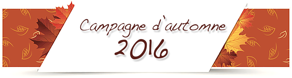 Campagne d'automne 2016